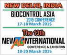 Biocontrol Asia 2015 & 13th New Ag International Conference & Exhibition, 17.-20.03.2015, New Dehli, India