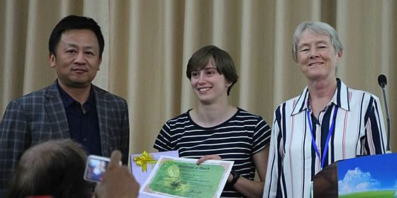 Young scientist awards – Ms Nathalie Brenard (PhD student, Department of Biology, University of Antwerp, Belgium)