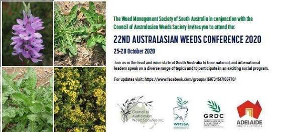22nd Australasian Weeds Conference (22AWC), 25-28 October 2020, Adelaide, Australia.