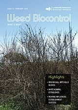 Weed Biocontrol: What's New? Landcare Research Newsletter